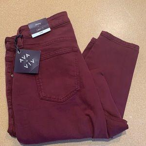Ava & Viv 14W Regular stretch ankle skinny jeans